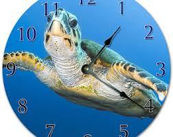 Sea Turtle Home Decor Sea Turtle Clock Etsy