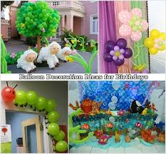 Birthday Decoration Ideas At Home With Balloons Interesting With - Birthday decorations at home ideas