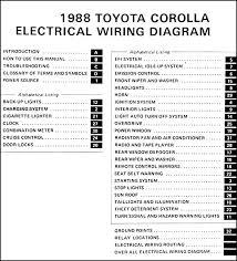 1988 toyota corolla rwd wiring diagram manual original