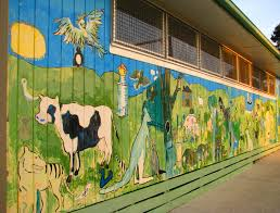 painting south gippsland pictures foster primary school painted wall