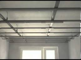 Suspended Drywall Ceiling by Gypsum Board Instalation Youtube