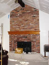 old brick fireplace makeover home fireplaces firepits best