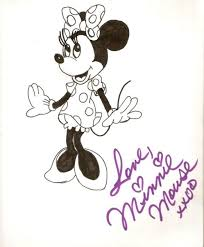 cute minnie mouse drawing minnie mouse autograph sketch