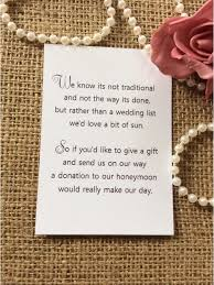 wedding registry inserts best 25 wedding gift poem ideas on honeymoon fund