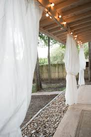 upgrading our backyard hanging ikea curtains concrete u0026