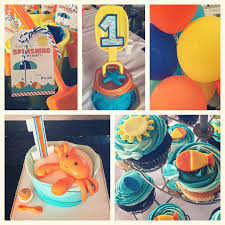 team shep blog rylan s first birthday pool party hosting birthday parties at places other than my house because no cleaning cooking or decorating however i clearly had to bring some decorations