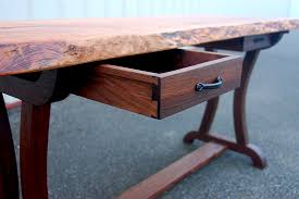 live edge desk with drawers 14 live edge cherry desk with curved leg base 014 corey morgan