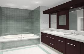 bathroom modern jacuzzi tub bathroom in white black floor tile