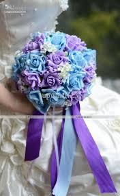 blue and purple flowers wedding flowers purple blue wedding flowers
