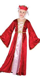 Tudor Halloween Costumes Medieval Girls Fancy Dress Childrens Tudor Book Character Costume