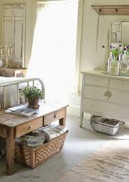 Coffee Table With Baskets Underneath Faded Charm Farmhouse Storage
