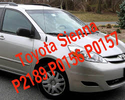 trac off and check engine light toyota toyota sienna code p2197 p0156 p0157 toyota b2s1 af sensor