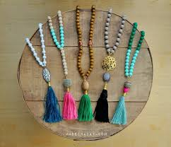 bead necklace with tassel images Diy beaded tassel necklaces new craft works jpg