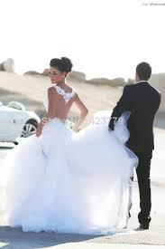 wedding dress covers buy sheer back sleeveless appliqued lace mermaid