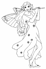 fairy coloring pages kids
