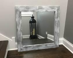 Framed Mirrors Bathroom Framed Mirror Etsy