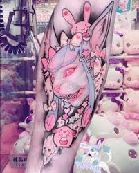 anime tattoo princess galactic parasite pink tattoo new