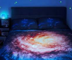 purple galaxy bed covers