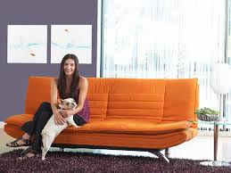 Orange Sleeper Sofa Orange Futon Roselawnlutheran