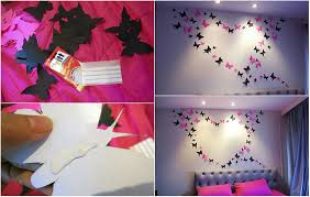 and beautiful butterfly wall