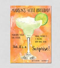 margarita party invitation watercolor invitation fall cocktail