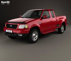 1999 ford truck ford f 150 cab flareside xlt 1999 3d model hum3d
