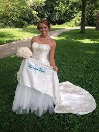 satin wedding dress label something blue on your wedding day mrs
