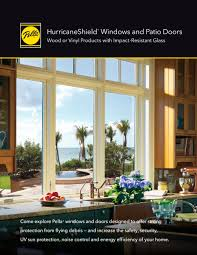 impact resistant sliding glass doors hurricaneshield impact resistant windows and patio doors pella