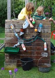 Building A Backyard Playground by Diy Backyard Games And Crafts Water Walls Empty Bottles And