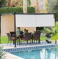 living steel pergola gazebo with retractable shade review