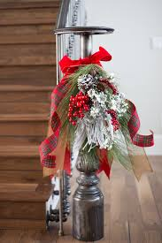 Banister Christmas Ideas Winter White U0026 Holiday Red Two Christmas Decor Themes From
