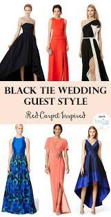 black tie wedding guest red carpet inspired black tie