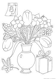 coloring page womens day