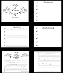 wedding guest book pages customized personalized wedding guest book alternatives