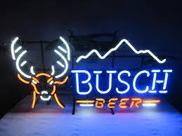 busch light neon sign ten point busch beer deer neon sign collectible nex tech classifieds