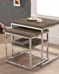 Nickel Table L Glass Top And Black Nickel Finish Metal Legs Snack Chair Side End