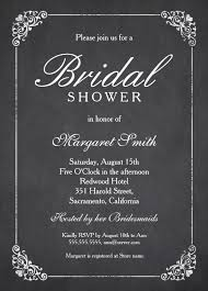 bridal shower invitation templates chalkboard bridal shower invitation template online