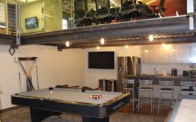 Pool Table Conference Table Spaces We Back S Construction S Creatively Industrial