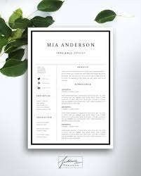 Resume Current Job by Resume Template 3 Page Cv Template Cover By Fortunelleresumes