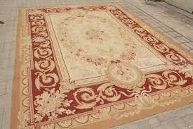 Rust Area Rug 9 X12 Aubusson Castle Area Rug Rust Antique Pink Wool