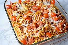 438 best kid friendly dinners images on pinterest chicken sweet potato spaghetti casserole