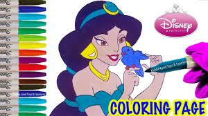 princess jasmine coloring page fun disney aladdin coloring