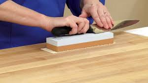 How To Sharpen Kitchen Knives by How To Use A Whetstone