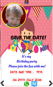 birthday invitation with photo android apps on google play