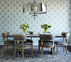 transitional chair dining room contemporary with gray leather