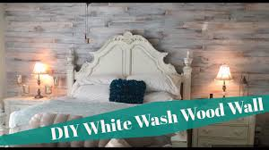 How To Whitewash Wood Walls by Diy Shabby Chic White Washed Cedar Wood Plank Wall Install Youtube
