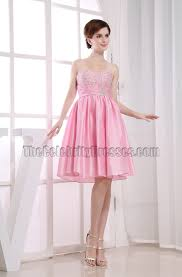 cute pink a line sweetheart party dress homecoming dresses