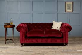 Chesterfield 3 Seater Sofa by St George Velvet Fabric Chesterfield Sofa