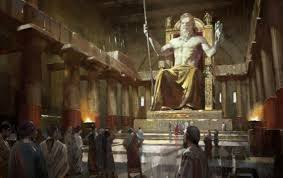 wonder of the ancient world the grand and powerful statue of zeus