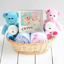 Baby Gift Baskets Delivered Double Deluxe Twin New Baby Gift Basket Newborn Hamper Baby Shower